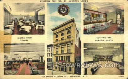 Syracuse Post No. 41 - New York NY Postcard