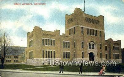 State Armory - Syracuse, New York NY Postcard
