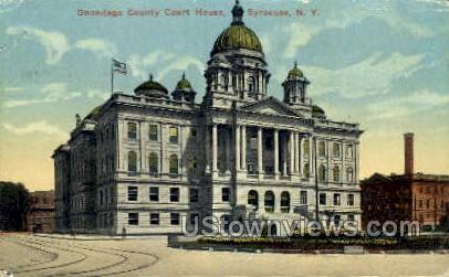Onondaga County Court House - Syracuse, New York NY Postcard