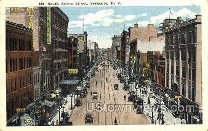S. Salina St. - Syracuse, New York NY Postcard