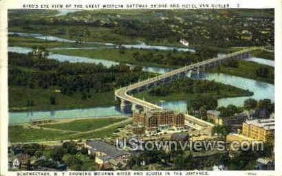 Great Western Gateway Bridges - Syracuse, New York NY Postcard
