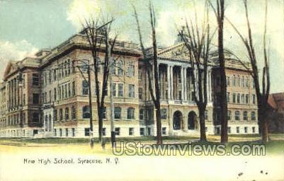 New High School, Syracuse - New York NY Postcard