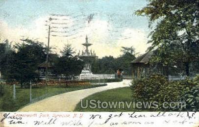 Leavenworth Park - Syracuse, New York NY Postcard