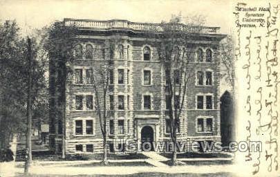 Winchell Hall, Syracuse University - New York NY Postcard