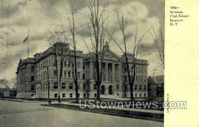 Syracuse High School - New York NY Postcard