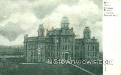 Hall of Languages, Syracuse University - New York NY Postcard