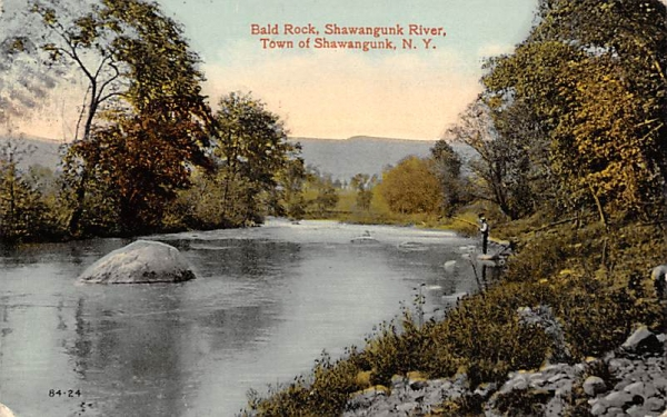Bald Rock Shawangunk River, New York Postcard