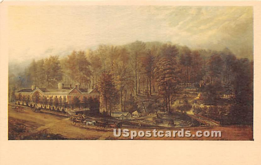 Main Street - Saratoga Springs, New York NY Postcard