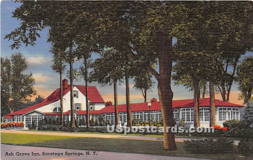 Ash Grove Inn - Saratoga Springs, New York NY Postcard