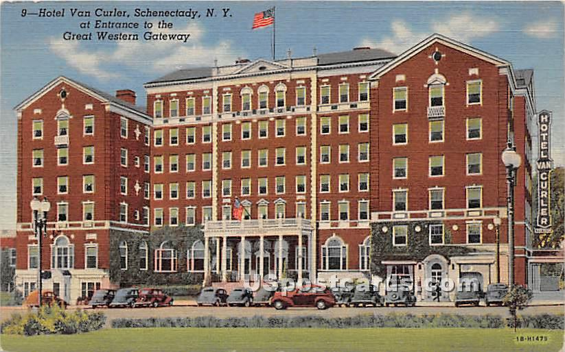 Hotel Van Curier - Schenectady, New York NY Postcard