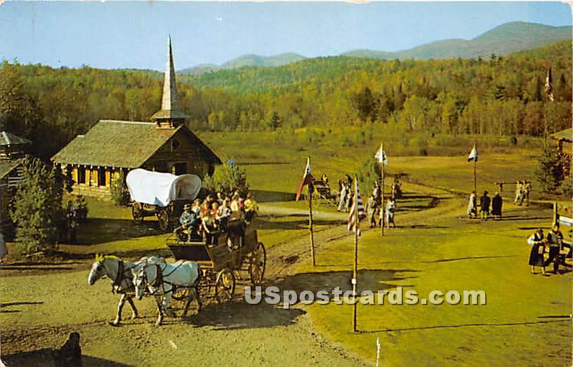 Frontier Town, 90 Year Old Stage Coach - Schroon Lake, New York NY Postcard