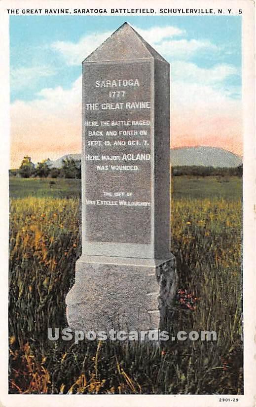 Great Ravine, Saratoga Battlefield - Schuylerville, New York NY Postcard