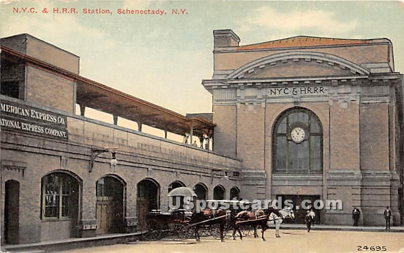 NYC & HRR Station - Schenectady, New York NY Postcard