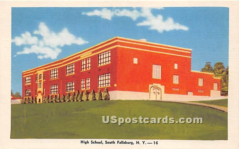 High School - South Fallsburg, New York NY Postcard