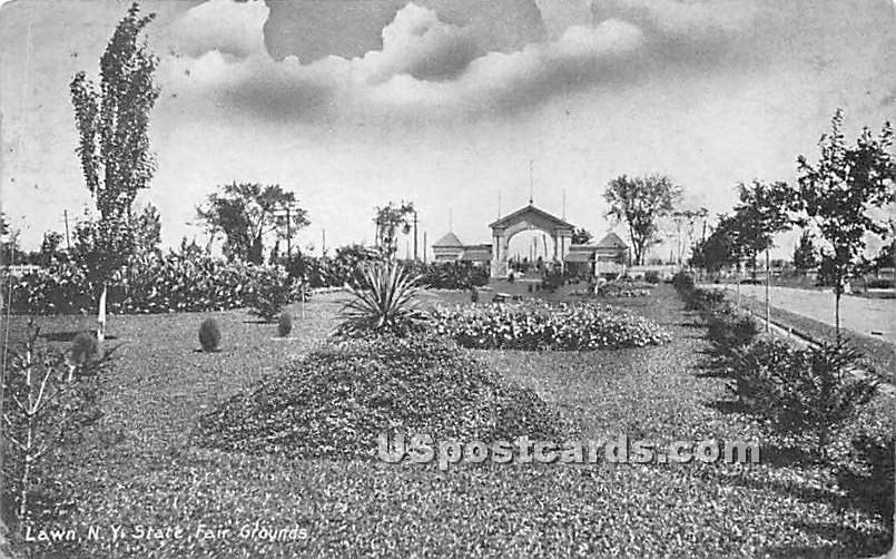 Lawn New York State Fair Grounds - Syracuse Postcard