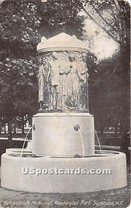 Kirkpatrick Memorial, Washington Park - Syracuse, New York NY Postcard