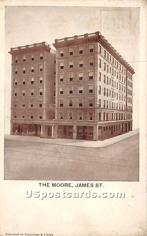 The Moore, James Street - Syracuse, New York NY Postcard
