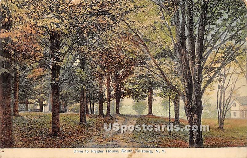 Drive to Flagler House - South Fallsburg, New York NY Postcard