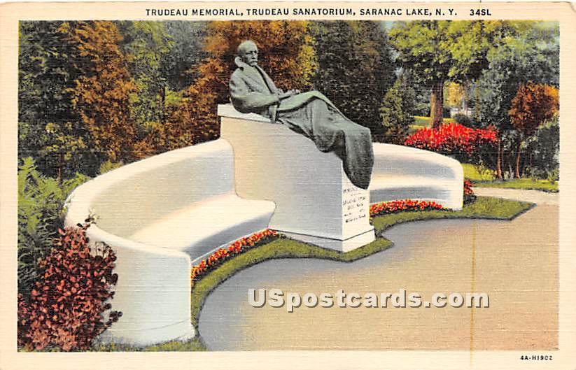 Trudeu Memorial, Sanatorium, - Saranac Lake, New York NY Postcard