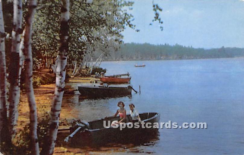 Fish Creek State Camping Grounds - Saranac Lake, New York NY Postcard