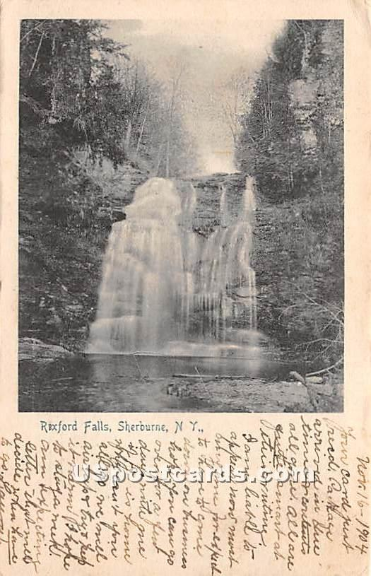 Rexford Falls - Sherburne, New York NY Postcard