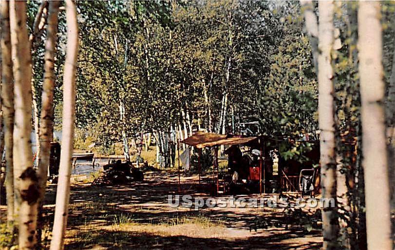Fish Creek Ponds Public Camp - Saranac Lake, New York NY Postcard