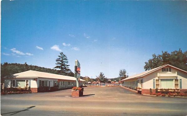 Wehs Lakeside Motel Saranac Lake, New York Postcard