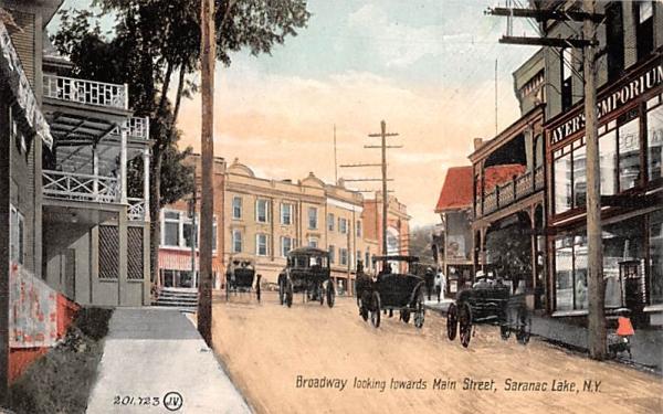 Broadway Saranac Lake, New York Postcard