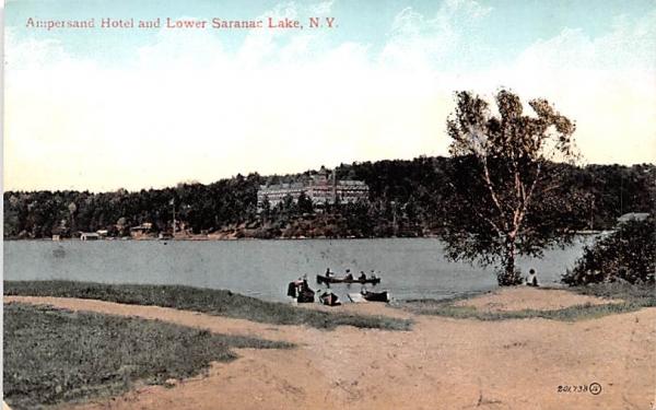 Ampersand Hotel Saranac Lake, New York Postcard