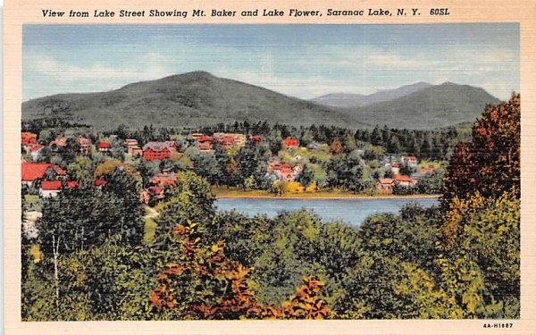 Lake Street Saranac Lake, New York Postcard