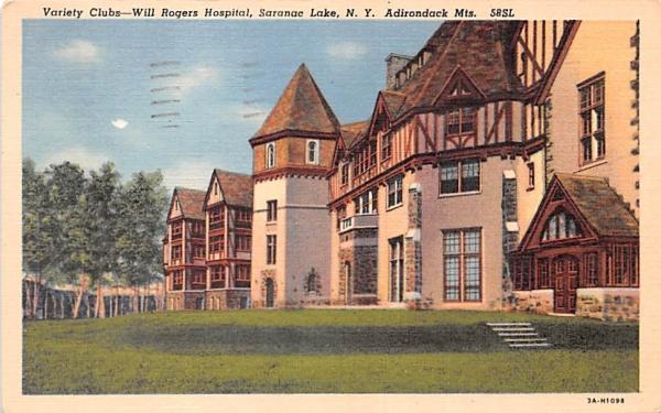 Variety Clubs Saranac Lake, New York Postcard