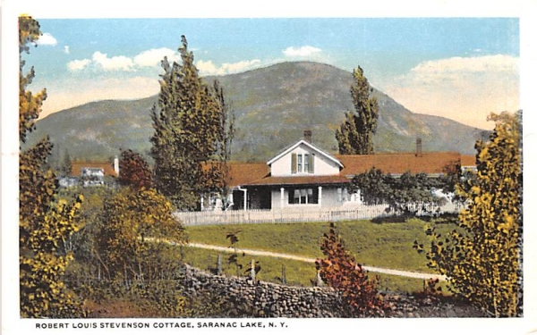 Robert Louis Stevenson Cottage Saranac Lake, New York Postcard
