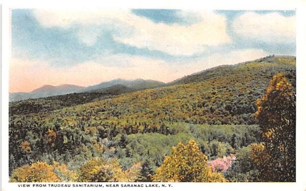 Trudeau Sanitarium Saranac Lake, New York Postcard