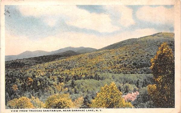 From Trudeau Sanitarium Saranac Lake, New York Postcard