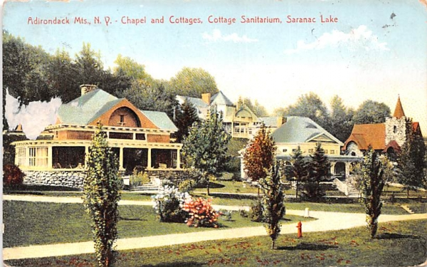 Chapel & Cottages Saranac Lake, New York Postcard