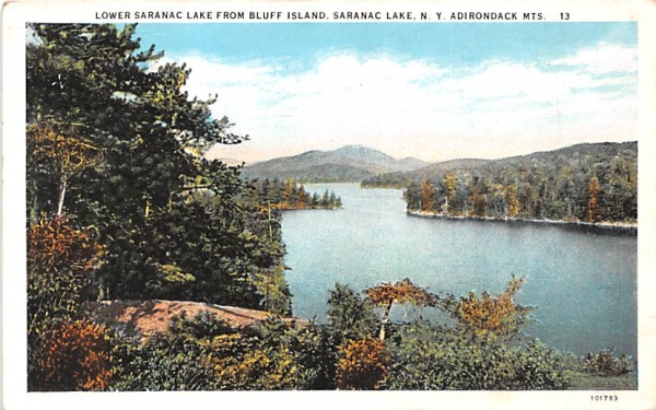 From Bluff Island Saranac Lake, New York Postcard