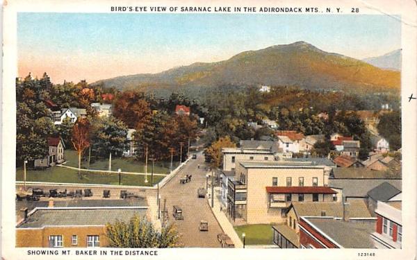 Mountain Baker Saranac Lake, New York Postcard