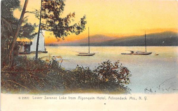 From Algonquin Hotel Saranac Lake, New York Postcard