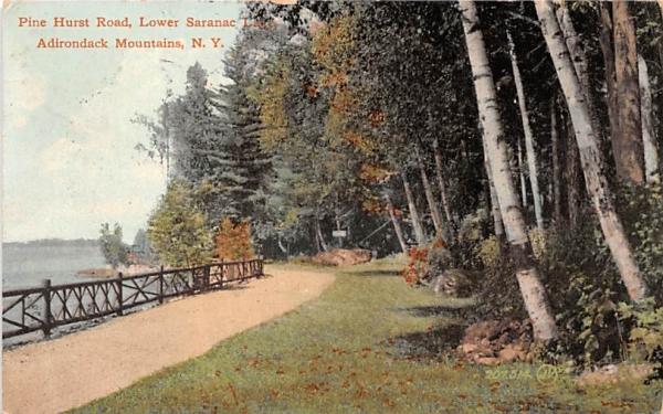 Pine Hurst Road Saranac Lake, New York Postcard