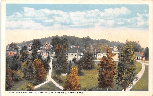Cottage Sanitarium Saranac Lake, New York Postcard