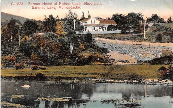 Former Home of Robert Louis Stevenson Saranac Lake, New York Postcard