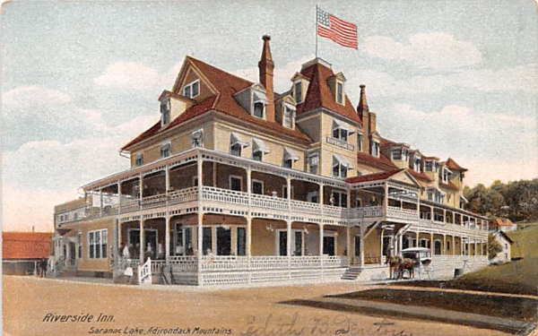 Riverside Inn Saranac Lake, New York Postcard