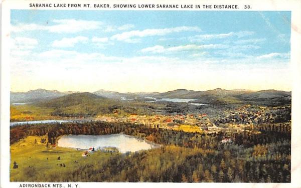 From Mount Baker Saranac Lake, New York Postcard