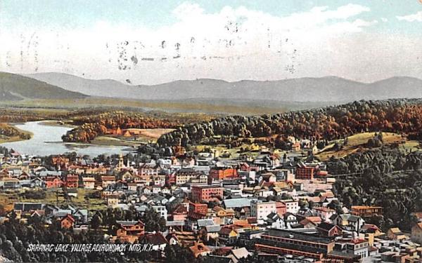 Saranac Lake Village New York Postcard