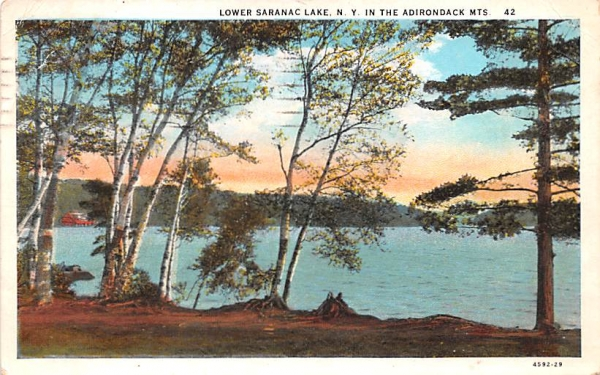 Adirondack Mountains Saranac Lake, New York Postcard