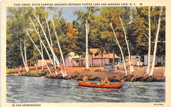 Fish Creek Saranac Lake, New York Postcard
