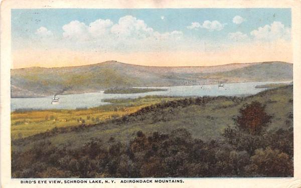Bird's Eye View Schroon Lake, New York Postcard