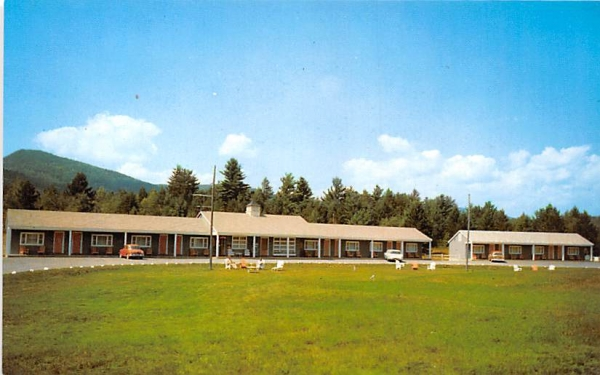 Blue Ridge Motel Schroon Lake, New York Postcard