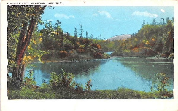 Pretty Spot Schroon Lake, New York Postcard