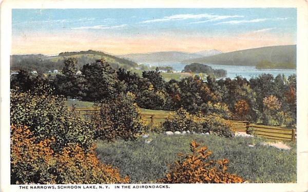 Narrows Schroon Lake, New York Postcard